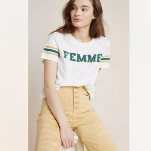 New Anthropologie Sol Angeles Femme Graphic Tee